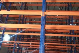 Raw material warehouse racking system